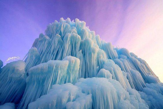 L'image du jour : Château de glace dans l'Utah, USA