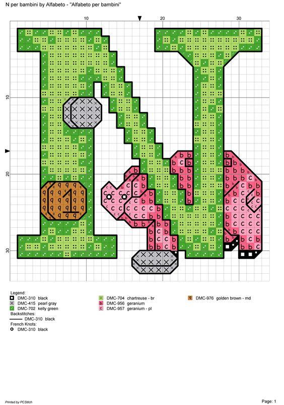 alfabeto per bambini n alfabeti a punto croce pinterest