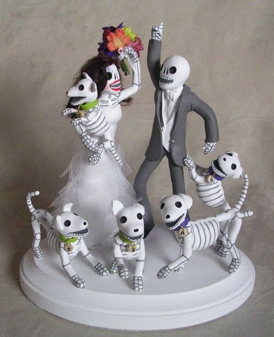cute animal wedding cake toppers custom day of the dead wedding cake topper skeleton 13267
