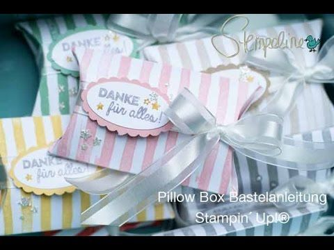 Pillow Box Bastelanleitung - neues Video Tutorial - Stempeline