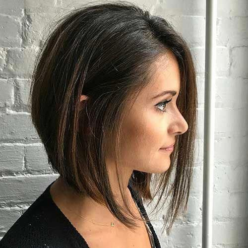 Asymmetrical Bob Haircut #invertedbobhaircut