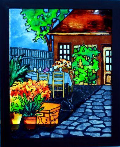 faux vitrail projet inspir d 39 une oeuvre de anne marie boisvert peinture pinterest. Black Bedroom Furniture Sets. Home Design Ideas