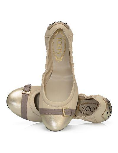 TOD'S Leather Ballerinas