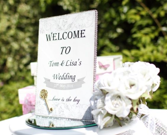 Wedding Signs from the Elegance Collection - A personalised welcome sign