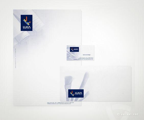 Paplería Corporativa. LUKA Estudio de Arte y Arquitectura - www.versal.net • Diseño Gráfico • Identidad Visual Corporativa • Publicidad • Diseño Páginas Web • Ilustración • Graphic Design • Corporate Identity • Advertising • Web Pages • Illustration • Logo