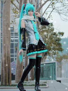 Vocaloid Hatsune Miku traje de Cosplay de Anime Halloween