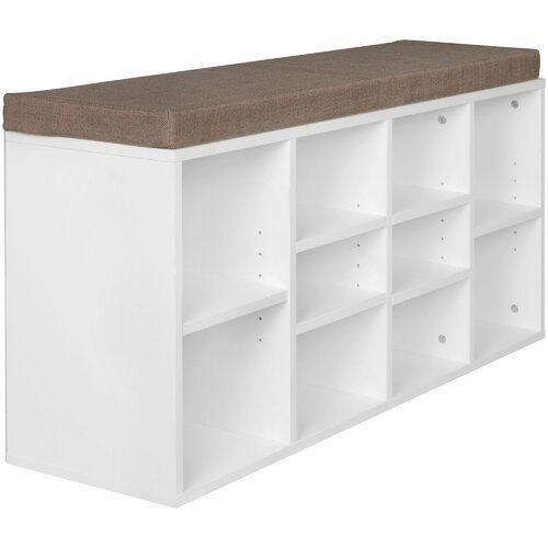 Gepolsterte Sitzbank Aus Holz Mit Stauraum Marlow Home Co Farbe
