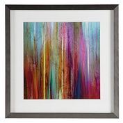 We love art that has color...turquoise, yellow, blue and purple // www.LookNook.co