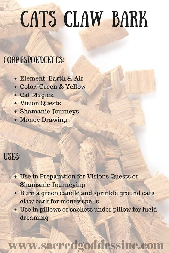 The Magick of Herbs: Cats Claw Bark (Printable for Your BOS