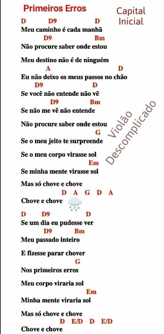 Pin De Clara Caetano Em Ukulele Cifras De Musicas Cifras Violao