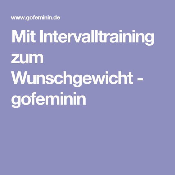 Mit Intervalltraining zum Wunschgewicht - gofeminin