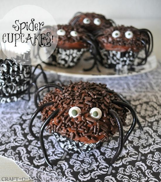 Spider Cupcakes!  Treat