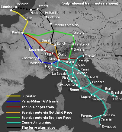 How to travel by train from London to Italy from £65 | Venice Florence Rome & other cities