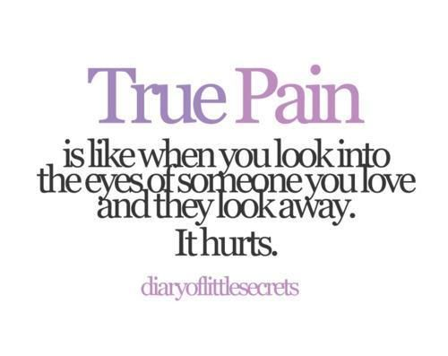 TRUE PAIN Is Like When You Look Into The Eyes Of Someone