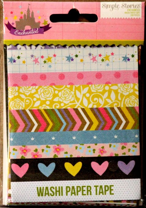 Simple Stories Enchanted Washi Paper Tape Collection is available at Scrapbookfare.