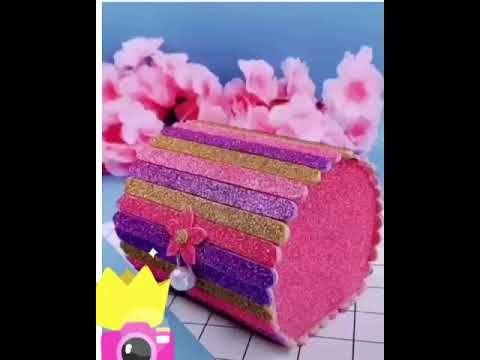 صنع علب تغليف الهدايا Making Gift Wrapping Boxes Youtube Desserts Food