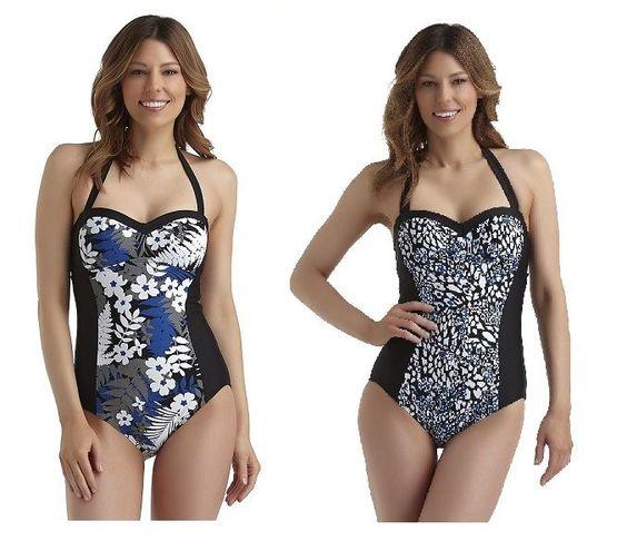 Tropical Escape Womens Swimsuit halter one piece black size 6 8 10 16 NEW  19.99 http://www.ebay.com/itm/-/232036472589?