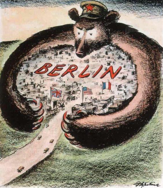 Soviet bear tries to strangle West Berlin, United States (1948)
