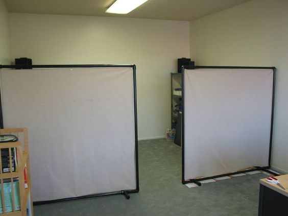 diy pvc office partition screens dividers o