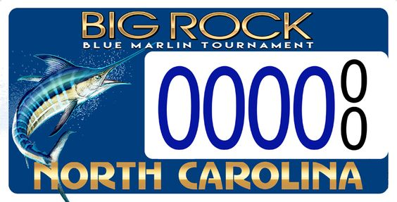 North Carolina DOT issued Big Rock Blue Marlin License Plate - Currently in Presale. 500 Must be pre-purchased for the State to produce these. Make it happen!!