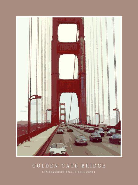 'Golden Gate Bridge' von Dirk h. Wendt bei artflakes.com als Poster oder Kunstdruck $19.41