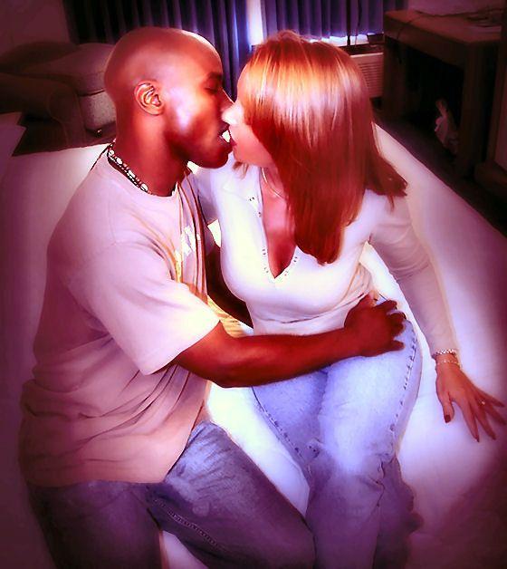 Girl interracial kissing