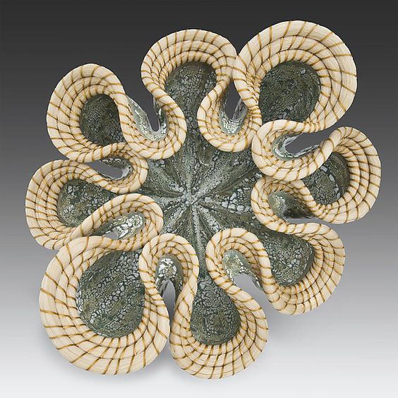 Celadon Wave by Valerie Seaberg: Ceramic Vessel available at www.artfulhome.com