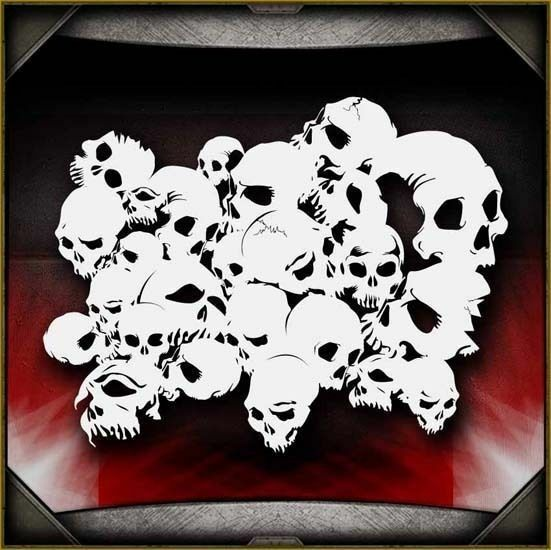 Airbrush Stencil Template Airsick Ram Skull 1