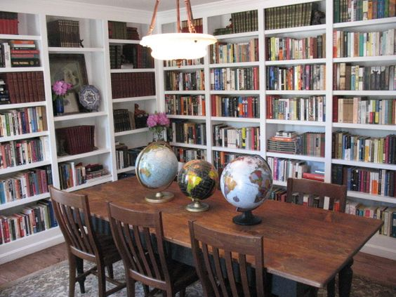 Phenomenal Dining Room And Library Combined Bookshelves Home Libraries Largest Home Design Picture Inspirations Pitcheantrous