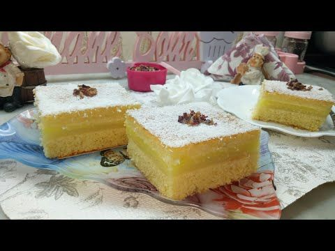 بسبوسة ملكية محشية بكريمة الليمون خفة وبنة من أروع ما يكون Youtube Food Desserts Cheesecake