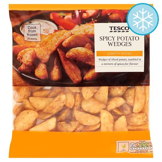 Spicy Potato Wedges 750g In 2020 Tesco Groceries Spicy