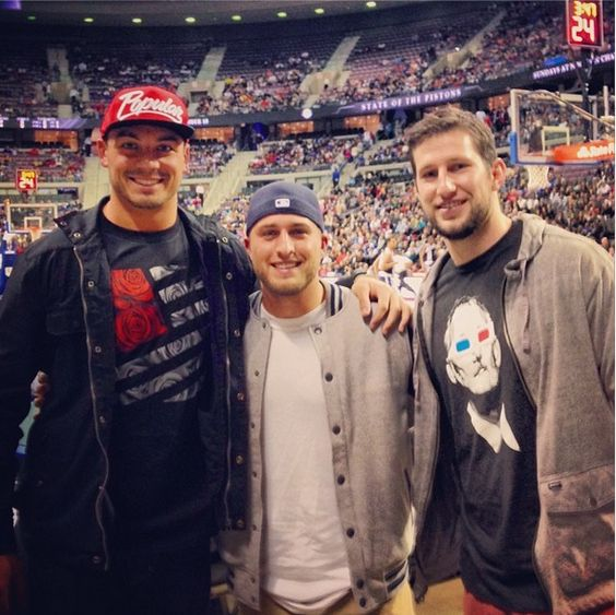 Nike jerseys for sale - Joe Fauria, Sam Martin and Kris Durham attending A Tigers game ...