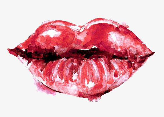 Watercolor Lips In 2020 Watercolor Red Red Art Makeup Illustration