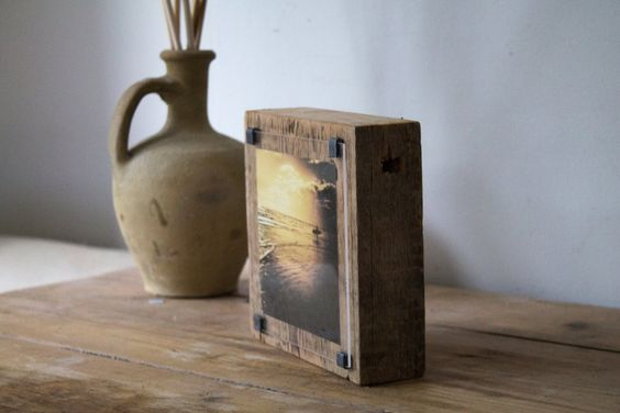 Sunset Surf photograph on a reclaimed sea groyne .  one of a  kind  photo wood block . Handmade .  by AngeCphotography on Etsy #surf #fathersday #homedecor #interiors