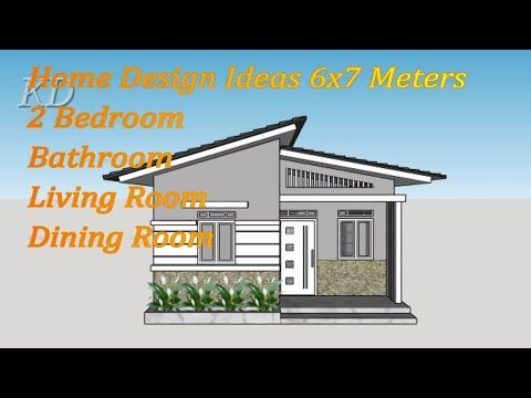 Inspiration House Dream Minimalist Model Small Home Design 6x7 Meters 2 Bedroom Youtube Small House Design House Design Simple House Plans