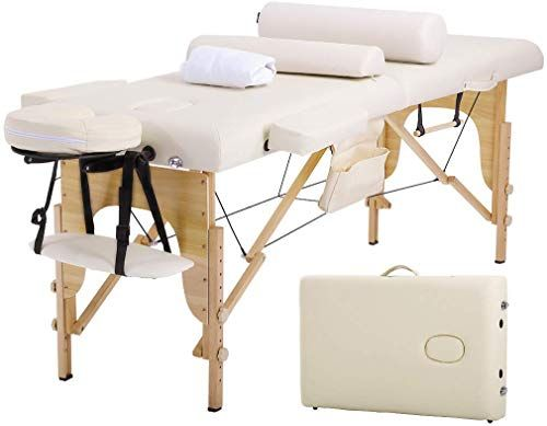 Beautiful Massage Table Massage Bed Spa Bed 73 Inches Long Height Adjustable W Sheet Cradle Bolster Portable 2 Folding Ma Massage Table Massage Bed Beds Online