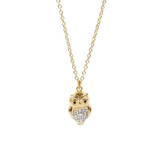 Owl Necklace by Kenneth Jay Lane