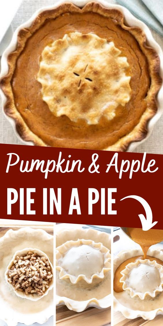 Pumpkin And Apple Pie In A Pie The Bewitchin Kitchen In 2020 Pumpkin Spice Waffles Dessert Pie Recipes Favorite Pie
