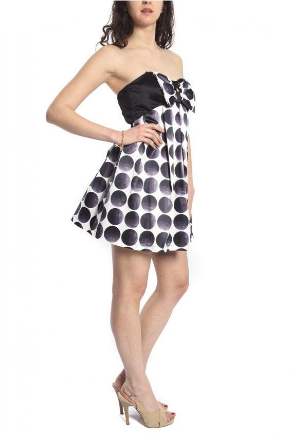 Rinascimento Negro vestido con lunares blancos Art & CFC0066766003