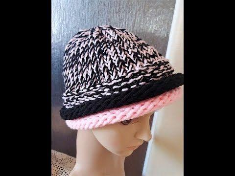 Double Roll Loom Knit Brim Tutorial Youtube Loom Knitting Patterns Loom Hats Loom Knitting