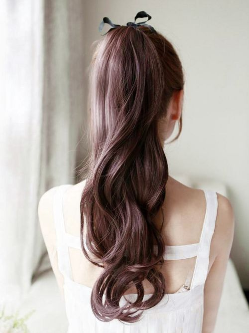 Simple Ponytail for Asian Hairstyles