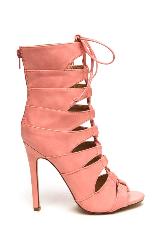 Laced Up Corset Heels
