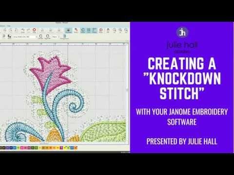 Creating A Knockdown Stitch Using Janome Digitizer Youtube Janome Embroidery Machine Janome Embroidery Janome