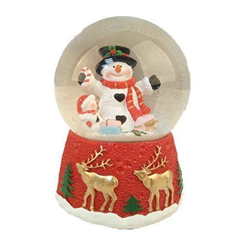 Lightahead Polyresin Christmas Musical Snow Globe Water Ball Snowman Christmas Ornaments Top Brands Artists Designer Names Christmas Snow Globes Snow Globes Musical Snow Globes