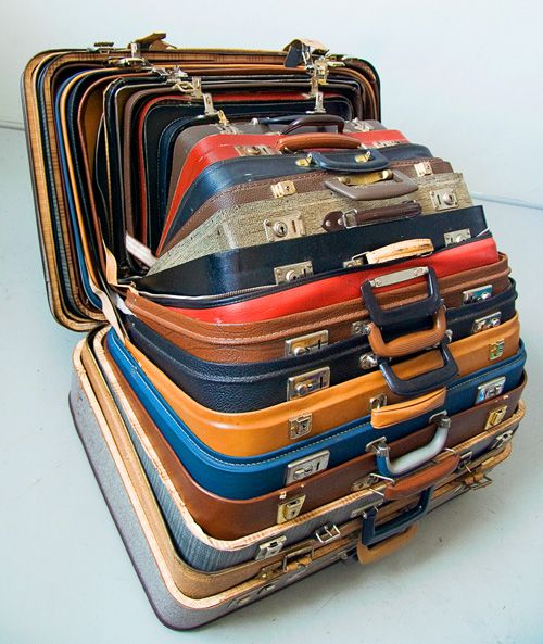 packed. vintage suitcases.