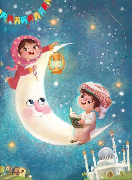 صور دينية عن شهر رمضان خلفيات مكتوبة اخبار العراق Ramadan Kids Islamic Cartoon Ramadan Cards