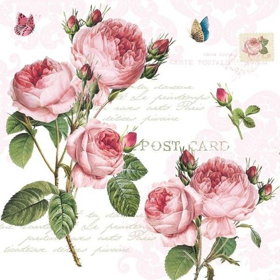 Decoupage Paper Vintage Rose