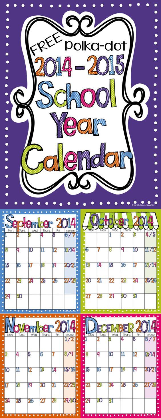 Kindergarten Calendar Powerpoint : Calendar polka dots and on pinterest