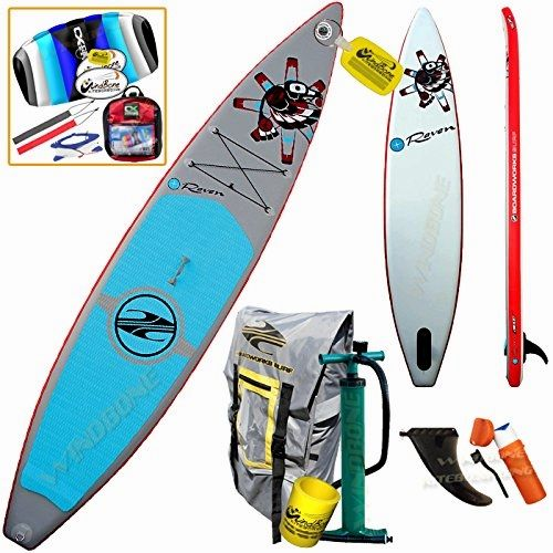 Boardworks Shubu Raven 12 6 Inflatable Racing Touring Sup Bundle 4 Items Stand Up Paddle Board 20 Standup Paddle Stunt Kite Paddle