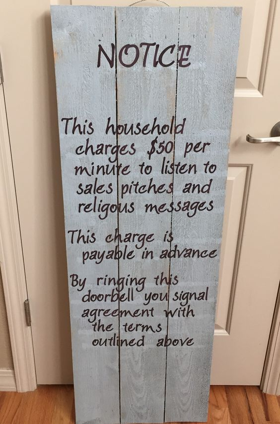 No Soliciting Front Porch Sign. Too bad the person who made it didn't spell religious correctly!!  Lol